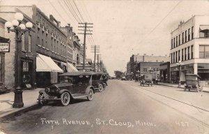 St Cloud Minnesota Fifth Avenue Real Photo Vintage Postcard JI658307
