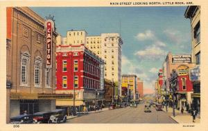 Little Rock Arkansas~Main Street Looking North~Capitol Theatre~Pfeifers~1938 Pc