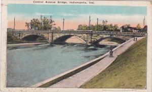 Indiana Indianapolis Central Avenue Bridge 1921