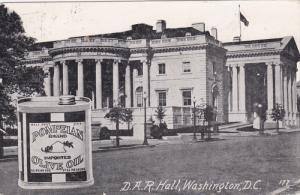 WASHINGTON D.C., 1900-1910's; D.A.R. Hall, Half Pint Of Pompeian Olive Oil