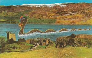 Loch Ness Monster at Castle Urguhart , Scotland , 1960-70s