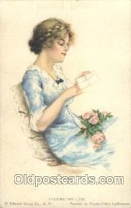 American Girl No. 48 Pearl Eugenia Fidler, Artist Signed 1914 crease right ed...