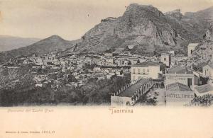 Taormina Italy panoramic birds eye view of area antique pc Z19623
