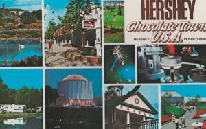 Hershey Chocolate Town Pennysylvania Advertising Postcard