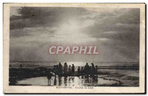 Old Postcard Ault Onival Sunset