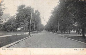 Ashland Kentucky Bath Avenue Street Scene Vintage Postcard JI658470