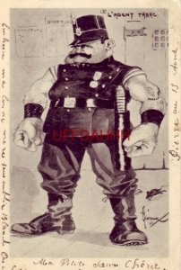 1903 L'AGENT TABAC  muscle-bound gendarme