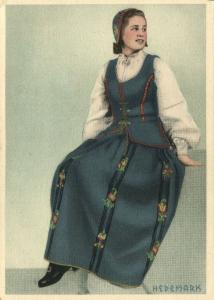 norway norge, HEDEMARK, Woman in Costumes (1940s)