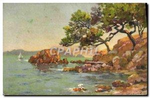 Old Postcard Fantasy Illustrator Robert Landscape