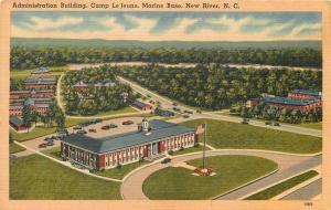 New River North Carolina~Camp Le Jeune Marine Base~Administration Bldg~1940s