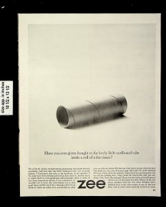 1963 Zee Roll of Toilet Tissue Vintage Print Ad 22043