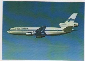 FinnAir DC-10 Airplane in Flight