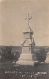 D48/ Clayville New York NY Photo RPPC Postcard c1910 Father O'Connor Monument