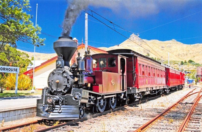 Postcard Locomotive D140, Moorhouse Station, Ferrymead Railway, New Zealand 10G