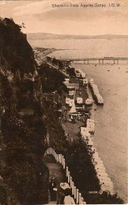 (w82) Shanklin from Appley Steps - Isle of Wight Postcard - Gloss Finish