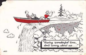 Having a Wonderful Time Don't Worry about Us pm 1962 - Humor