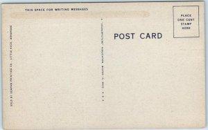 Petit Jean State Park, Arkansas Postcard MATHER LODGE Front View Linen c1940s
