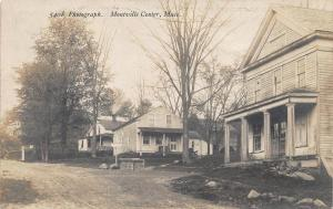 Montville Center MA Dirt Street View Storefronts 1909 Real Photo Postcard