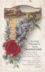 Loving Thoughts from Wangford Suffolk Antique Postcard