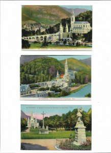 France Lourdes Postcard Lot of 7 01.11