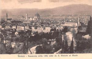 Italy Old Vintage Antique Post Card Panorama della Citta Firenze Unused