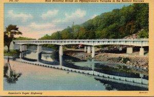 Pennsylvania Turnpike Bridge In The Bedford Narrows Curteich