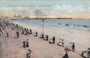 New Jersey Atlantic City Chair Parade On the BoardWalk 1914
