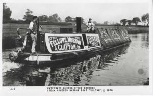 Waterways Museum Stoke Bruerne Sultan C Boat Unused Real Photo Postcard D15