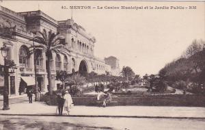 MENTON, Alpes Maritimes, France, 00-10s : Le Casino Municipal et le Jardin Pu...