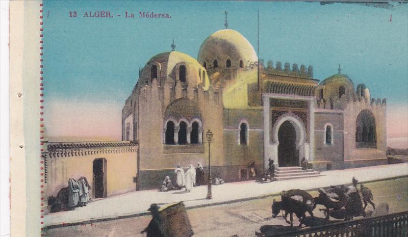 La Medersa, Donkeys Carrying Large Baskets, Alger, Algeria, Africa, 1900-1910s