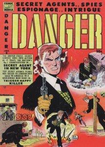 Danger Man 1950s Sky Secret Agent Comic In New York Postcard