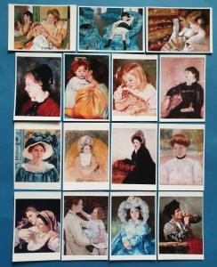 Beautiful Mini Art Postcard Set of 15 with art by Mary Cassatt