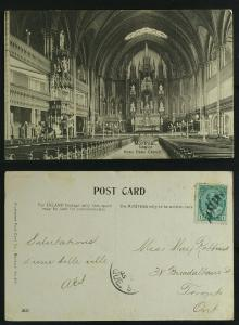Interior Notre Dame Church  Montreal pmk 1905