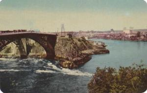 Reversing Falls at High Tide - Saint John NB, New Brunswick, Canada - pm 1954