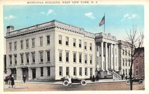 West New York New Jersey~Municipal Building~Police Patrol Door~Vintage Cars~1916