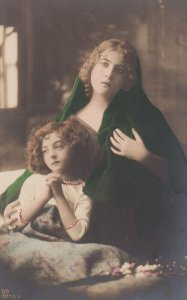 RP; 1900-1910's; Portrait Of Woman And Girl