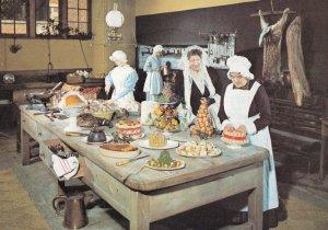 Victorian Kitchen At Charlecote Park Warwick Postcard
