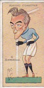 Player Vintage Cigarette Card Football Caricatures By Mac 1927 No 30 G Sommer...