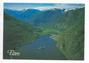 Aerial View Of Flam, Sogn, Norway, 1950-1960s