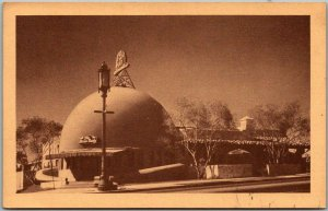 Los Angeles, CA Postcard BROWN DERBY RESTAURANT Wilshire Blvd. Street View