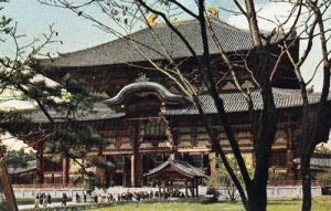 Hall Of The Great Buddha Largest Japanese Buddhist Temple Rare 1960s Postcard