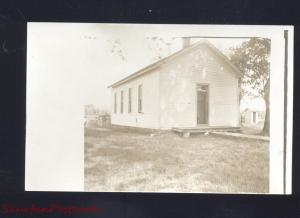 RPPC AULNE KANSAS CHURCH BUILDING VINTAGE REAL PHOTO POSTCARD 1910