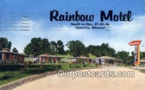 Rainbow Motel, Cassville, MO, USA Motel Hotel 1961 postal marking on front, p...
