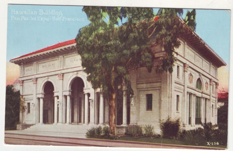 P361 JL, 1915 postcard panama pacific expo san fran calif hawaiian building