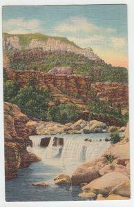 P2190 1940 postcard oak creek canyon highway 79 flagstaff to prescott arizona