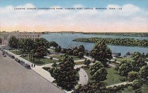 Looking Across Confederate Park Toward Post Office Memphis Tennessee