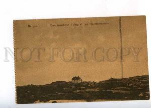 233025 NORWAY BERGEN wireless telegraph paa Rundemanen Vintage