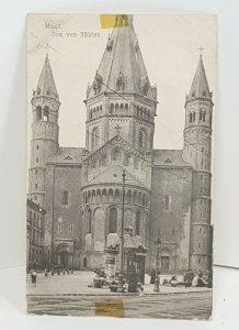 Dom vom Hochen Mainz Germany Vintage Postcard
