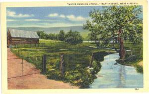 Linen of Water Running Uphill, Martinsburg West Virginia WV