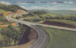 Pennsylvania Bedford Pennsylvania Turnpike And Approach Of Bedford Interchang...